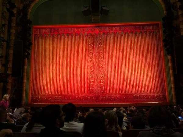 New Amsterdam Theatre, secção: Orchestra C, fila: N, lugar: 108