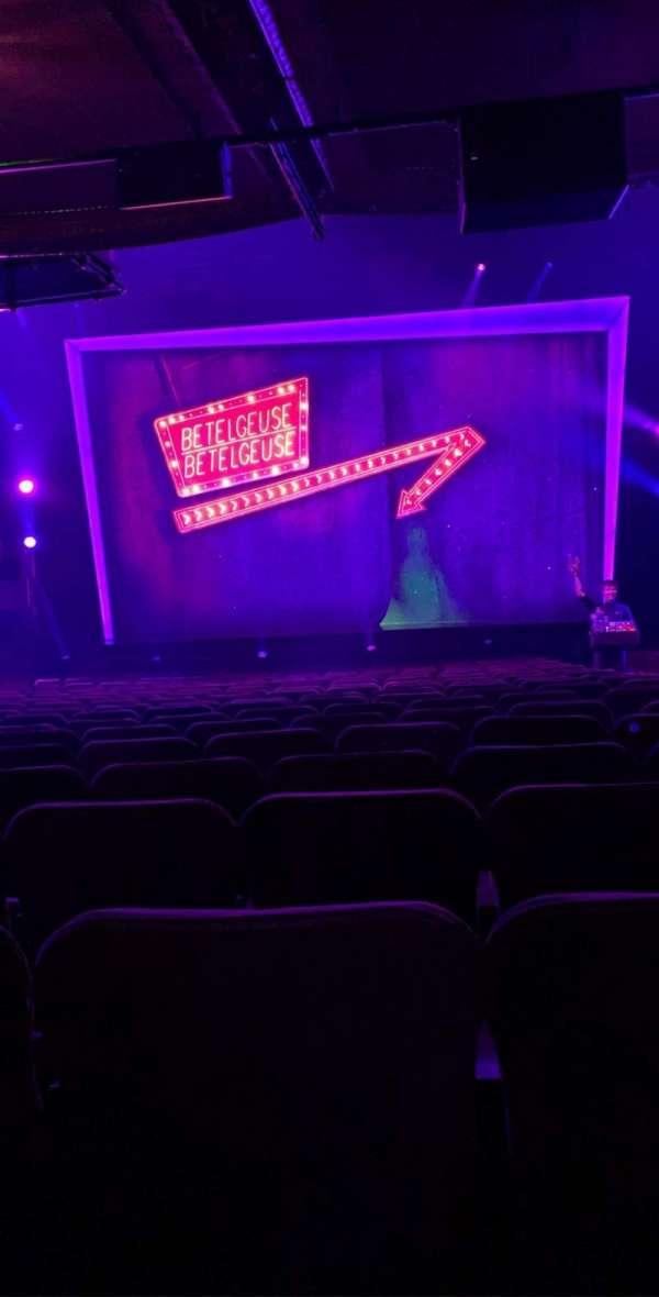 Winter Garden Theatre, secção: Orchestra C, fila: U, lugar: 104