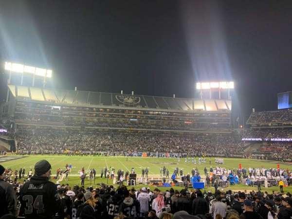 Oakland Coliseum, secção: 119, fila: 25, lugar: 12