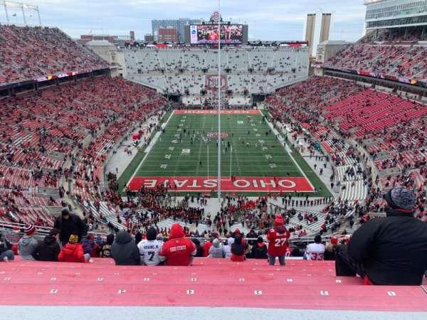Ohio Stadium, secção: 2C, fila: 25, lugar: 8