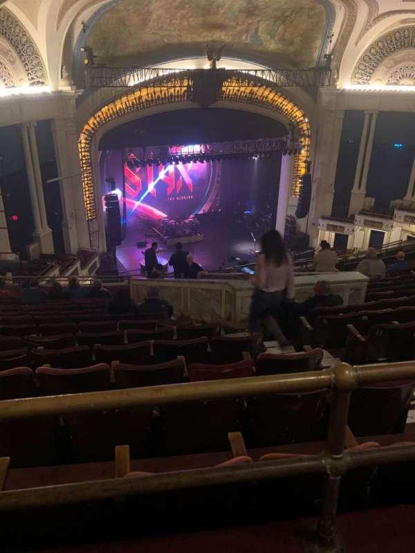 Orpheum Theatre (Boston), secção: Balcony L, fila: S, lugar: 5
