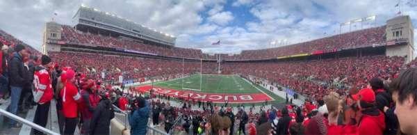 Ohio Stadium, secção: 38A, fila: 9, lugar: 20