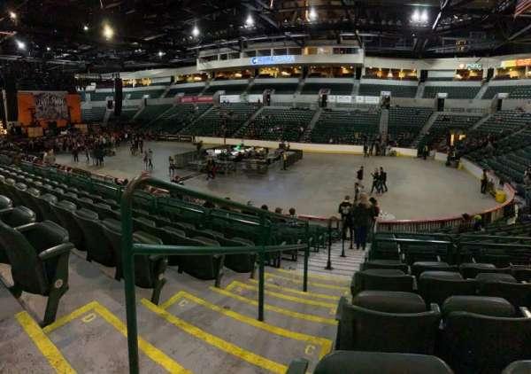 Cure Insurance Arena, secção: 113, fila: E, lugar: 213
