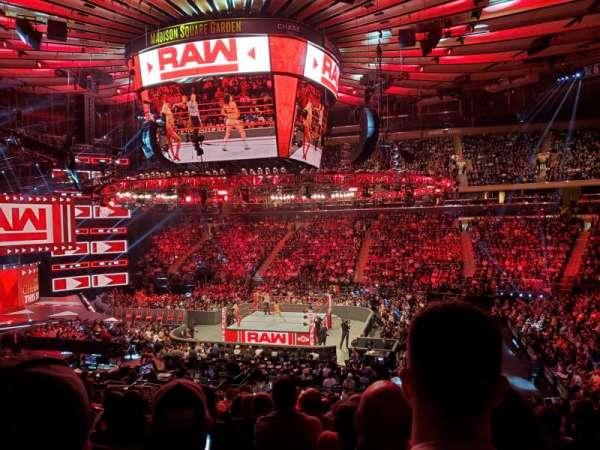 Madison Square Garden, secção: 118, fila: 20, lugar: 13