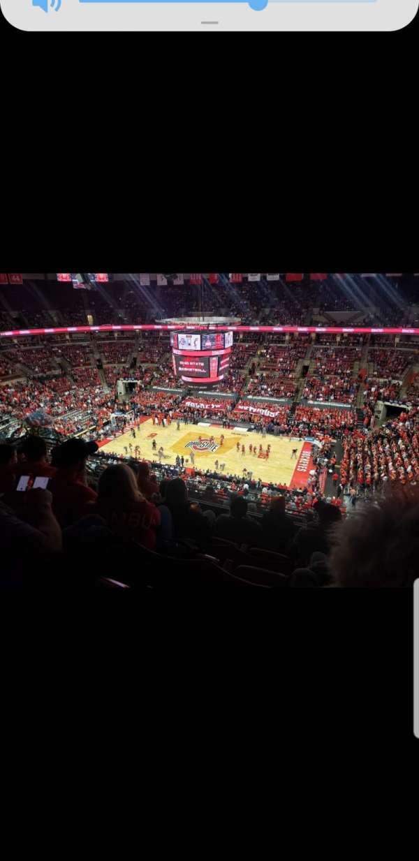 Value City Arena, secção: 321, fila: K