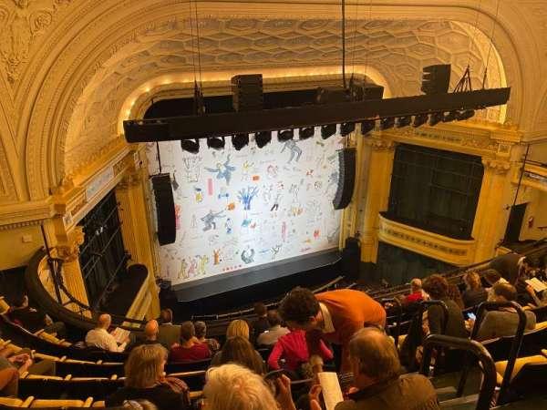 Hudson Theatre, secção: Balcony L, fila: H, lugar: 2