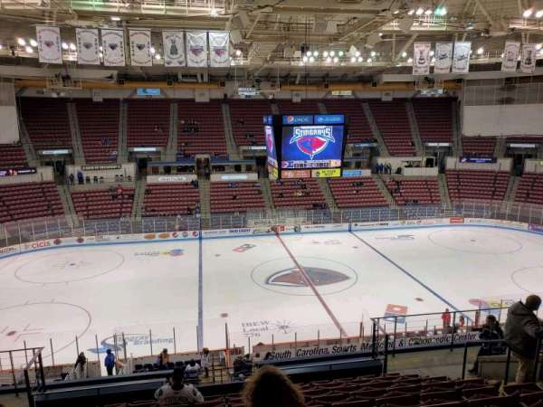 North Charleston Coliseum, secção: 242, fila: M, lugar: 8
