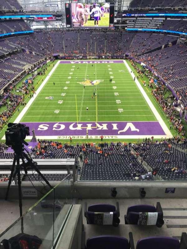 U.S. Bank Stadium, secção: 326, fila: D, lugar: 2