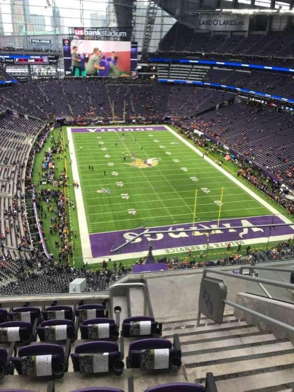 U.S. Bank Stadium, secção: 328, fila: 6, lugar: 2