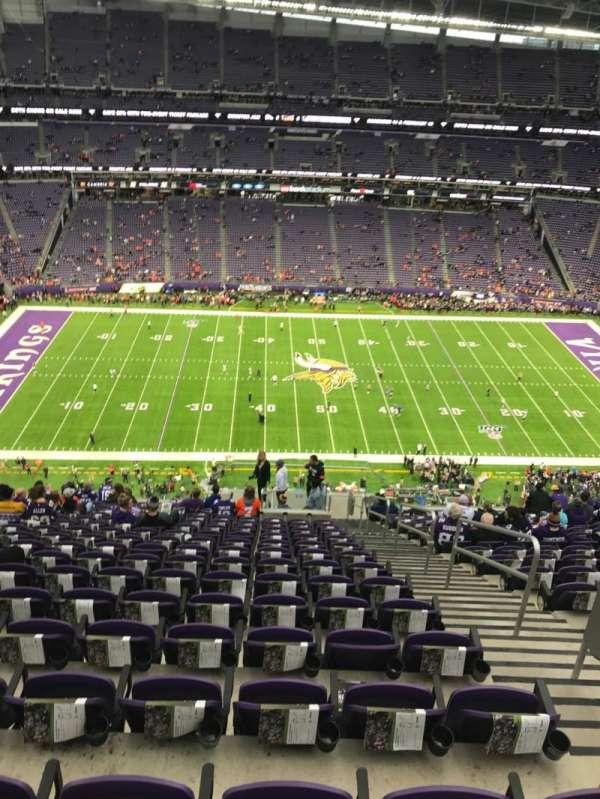 U.S. Bank Stadium, secção: 342, fila: 18, lugar: 3