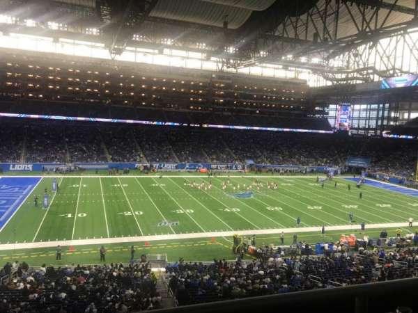 Ford Field, secção: 228, fila: 2, lugar: 5