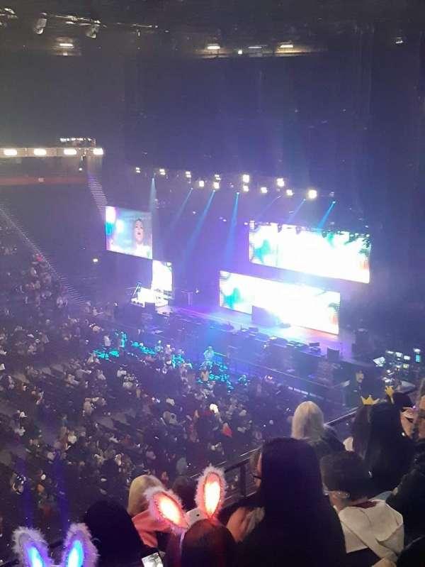 Manchester Arena, secção: 213, fila: E, lugar: 7