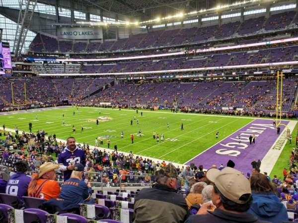 U.S. Bank Stadium, secção: 114, fila: 27, lugar: 29
