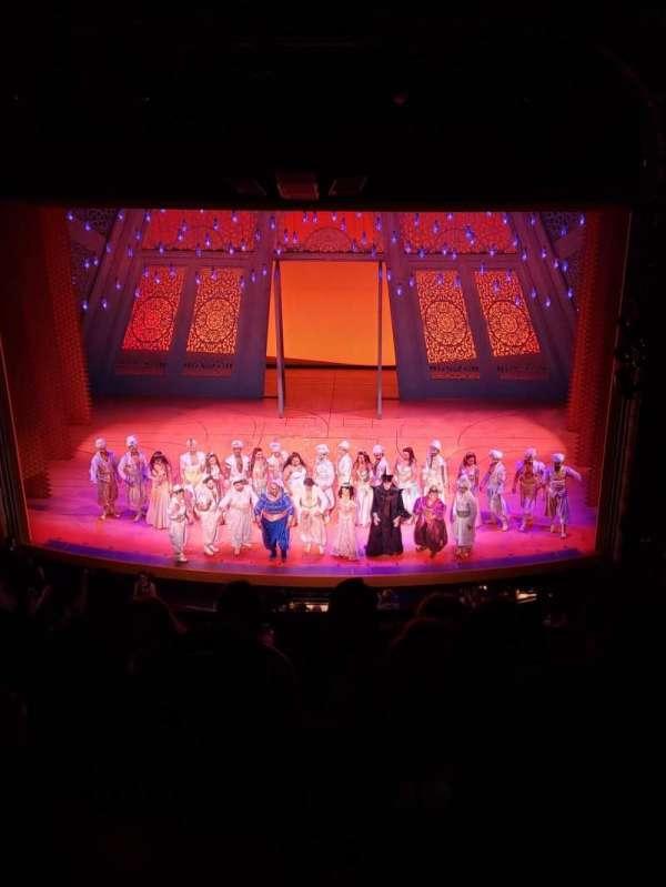 New Amsterdam Theatre, secção: Orchestra C, fila: F, lugar: 106