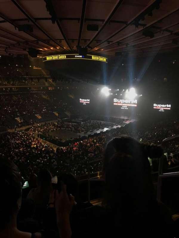 Madison Square Garden, secção: 207, fila: 5, lugar: 19
