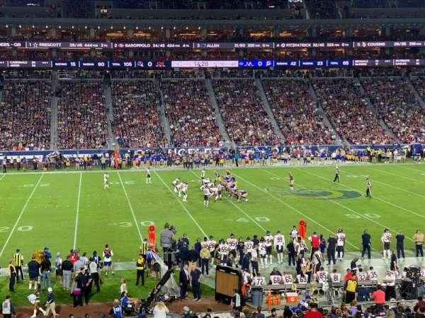 Los Angeles Memorial Coliseum, secção: 123A, fila: 34, lugar: 6