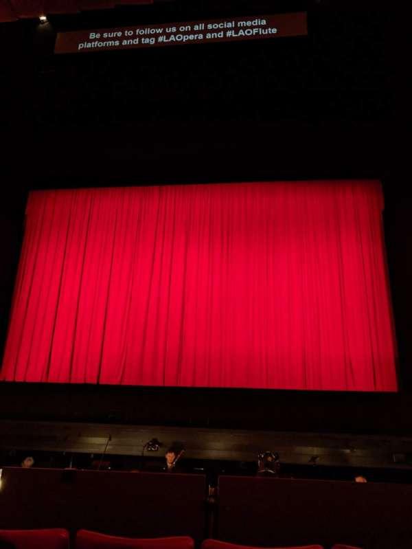 Dorothy Chandler Pavilion, secção: Orchestra, fila: D, lugar: 16