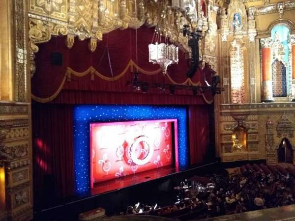 Fox Theatre (Detroit), secção: Mezzanine, fila: Aa, lugar: 205