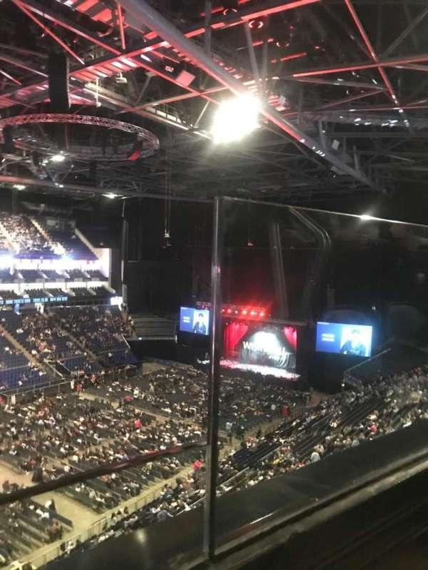 The O2 Arena, secção: 417, fila: A, lugar: 844