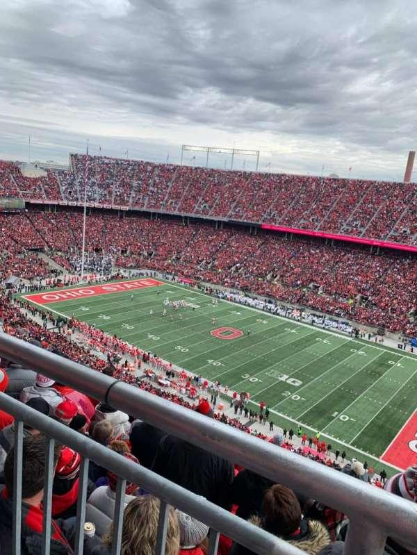 Ohio Stadium, secção: 29D, fila: 1, lugar: 8