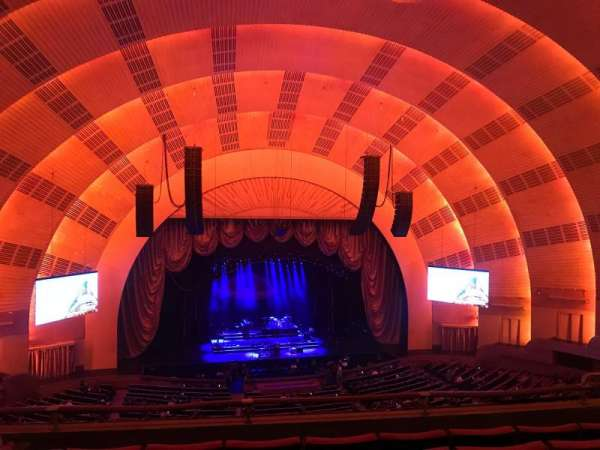 Radio City Music Hall, secção: 2ND Mezzanine 5, fila: E, lugar: 509
