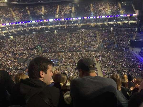 The O2 Arena, secção: 420, fila: h, lugar: 920