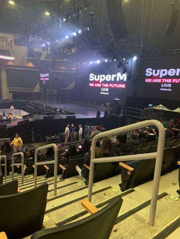 Infinite Energy Arena, secção: 106, fila: N, lugar: 2