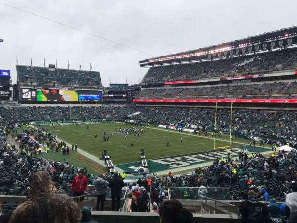 Lincoln Financial Field, secção: 108, fila: 43, lugar: 16