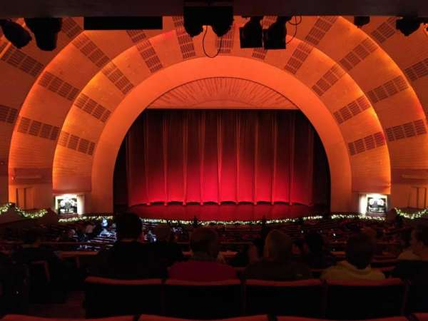 Radio City Music Hall, secção: 1st Mezzanine 4, fila: G, lugar: 412
