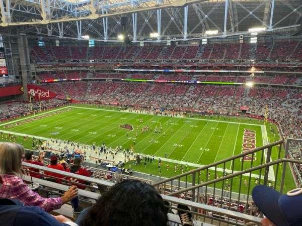 State Farm Stadium, secção: 439, fila: 2, lugar: 1