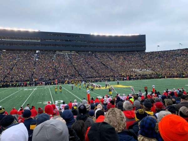 Michigan Stadium, secção: 3, fila: 10, lugar: 25