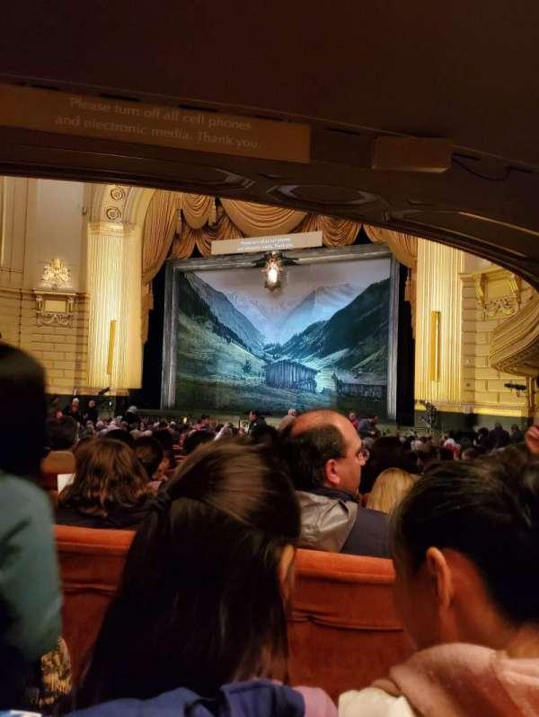 War Memorial Opera House, secção: Orchestra, fila: Y, lugar: 14