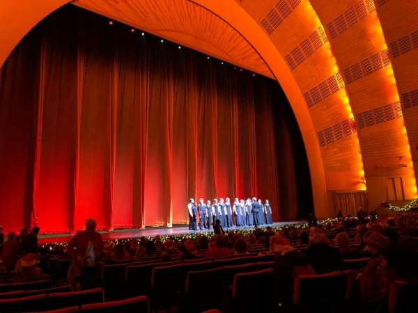 Radio City Music Hall, secção: Orchestra 6, fila: RR, lugar: 604