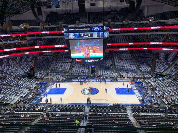 American Airlines Center, secção: 309, fila: A, lugar: 13
