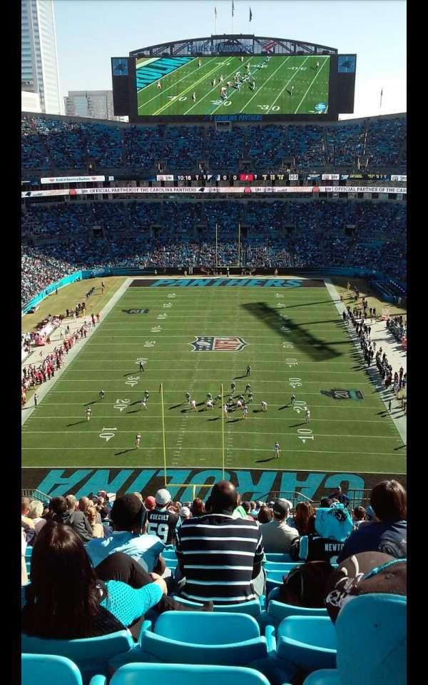 Bank of America Stadium, secção: 501, fila: 21, lugar: 5