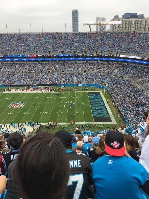 Bank of America Stadium, secção: 539, fila: 26, lugar: 9