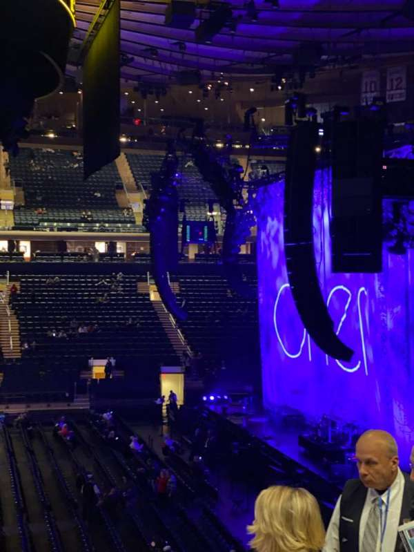 Madison Square Garden, secção: 107, fila: 22, lugar: 20