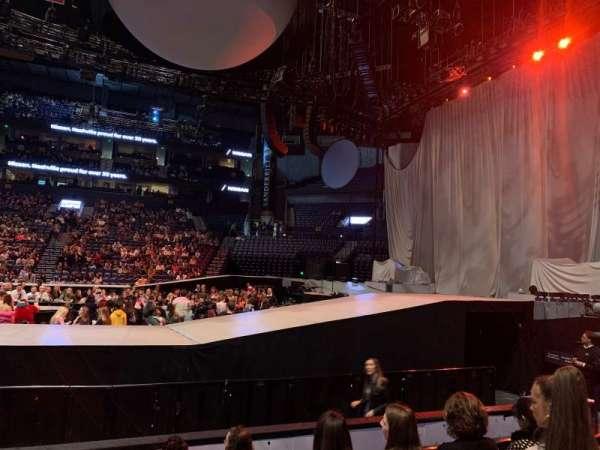 Bridgestone Arena, secção: 107, fila: FF, lugar: 14