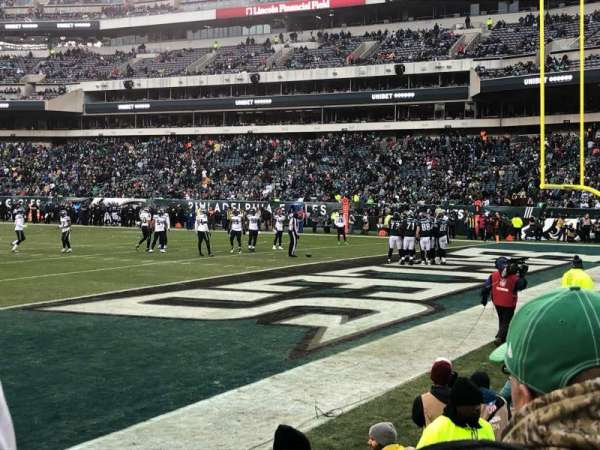 Lincoln Financial Field, secção: 126, fila: 2, lugar: 4