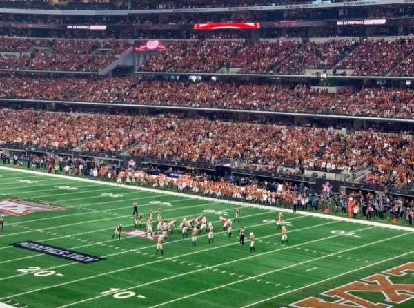 At&T Stadium, secção: 203, fila: 12, lugar: 6