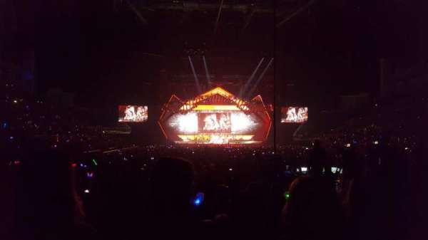 The O2 Arena, secção: 106, fila: B, lugar: 191