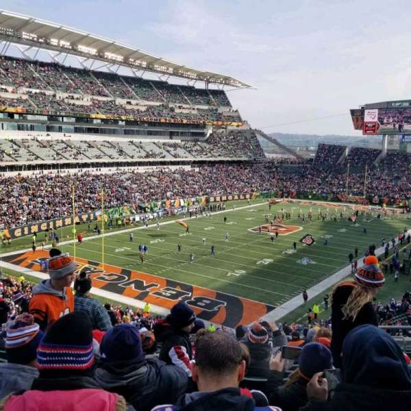 Paul Brown Stadium, secção: 220, fila: 17, lugar: 5