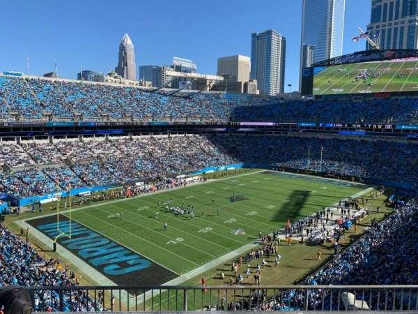 Bank of America Stadium, secção: 549, fila: 1, lugar: 10