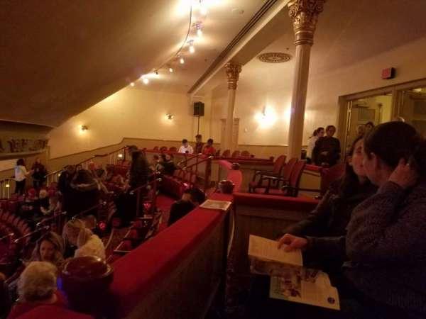 Fulton Opera House, secção: mezzanine, fila: H, lugar: 19