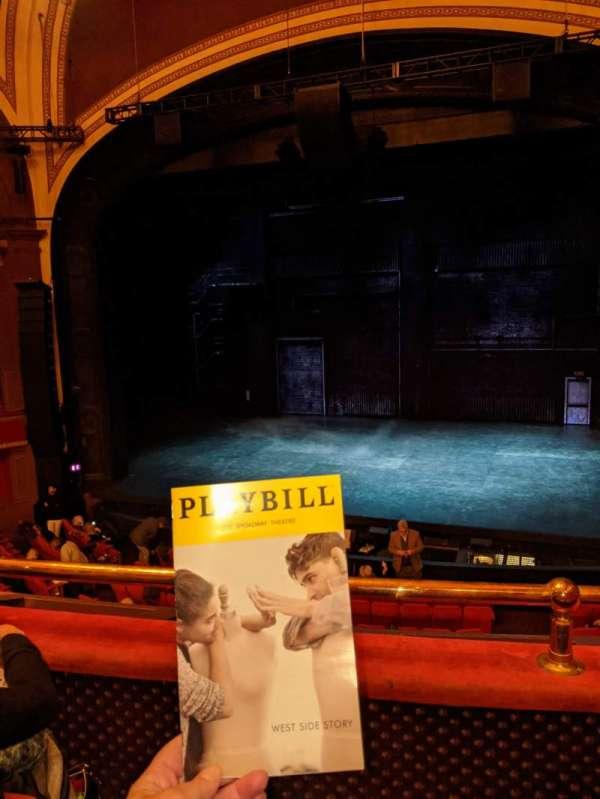 Broadway Theatre - 53rd Street, secção: Front Mezzanine RC, fila: B, lugar: 115