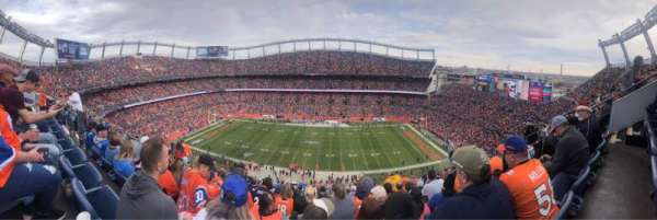 Empower Field at Mile High Stadium, secção: 507, fila: 15, lugar: 7