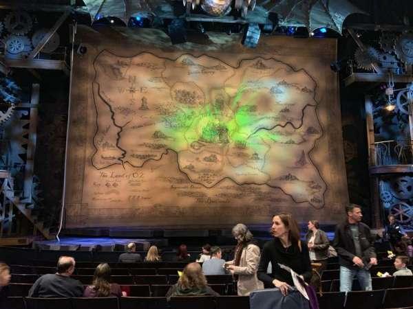 Gershwin Theatre, secção: Orchestra C, fila: F, lugar: 106