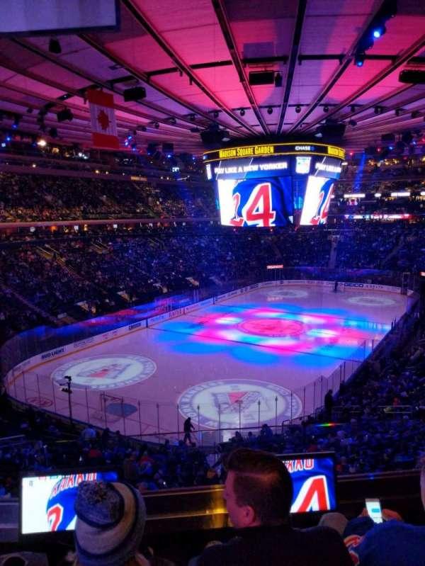 Madison Square Garden, secção: 206, fila: 3, lugar: 9
