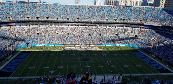Bank of America Stadium, secção: 543, fila: 22, lugar: 1