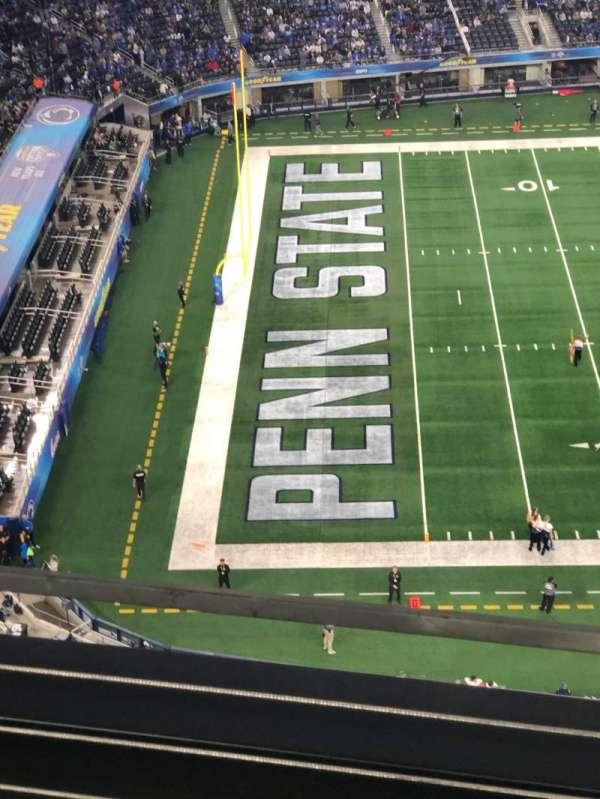 AT&T Stadium, secção: 416, fila: 2, lugar: 3
